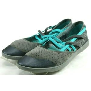 Teva Hydro Life Women's Loafers Size 9.5 Gray Blue